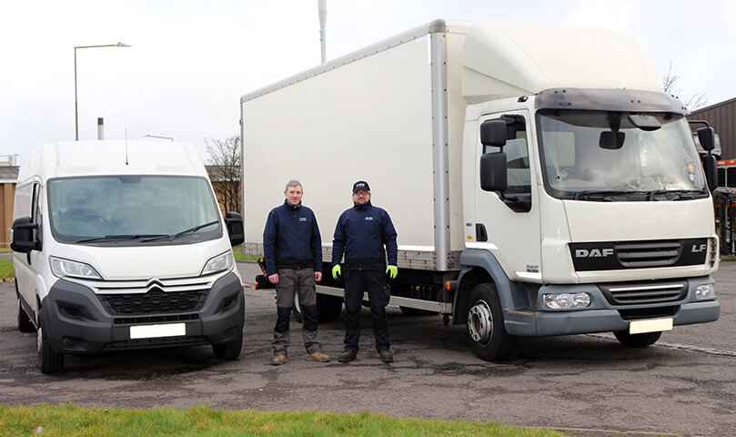 XPO Relocation Vehicles and Staff